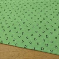 Gazovina - Srdiečka - Zelený podklad - cena za 10 centimetrov