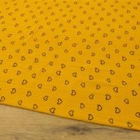 Gazovina - Srdiečka - Žltý podklad - cena za 10 centimetrov