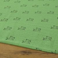 Gazovina - Lamy - Zelený podklad - cena za 10 centimetrov