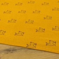 Gazovina - Lamy - Žltý podklad - cena za 10 centimetrov