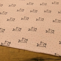 Gazovina - Lamy - Ružový podklad - cena za 10 centimetrov
