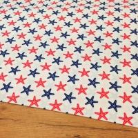 Bavlnená látka - Morské hviezdy - cena za 10 centimetrov