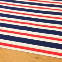 Bavlnená látka - Pásiky červeno modré - cena za 10 centimetrov