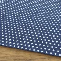 Bavlnená látka - Hviezdičky 10 mm na modrom - cena za 10 centimetrov