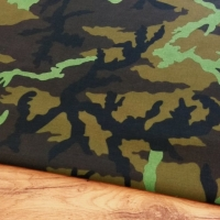 Bavlnená látka - Maskáč vzor XI - cena za 10 centimetrov