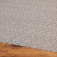 Bavlnená látka - Srdiečka ozdobné na šedom - cena za 10 centimetrov