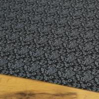 Bavlnená látka - Srdiečka ozdobné na čiernom - cena za 10 centimetrov