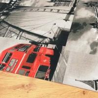 Bavlnená látka - London City - cena za 10 centimetrov