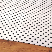Bavlnená látka - Bodky čierne na bielom 8 mm - cena za 10 centimetrov