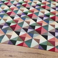 Bavlnená látka - Trojuholníky farebné II - cena za 10 centimetrov