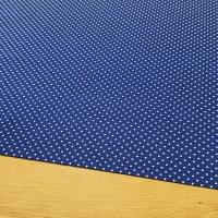 Bavlnená látka - Bodky na kráľovsko modrom 2 mm - cena za 10 cm