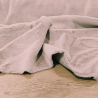 Kožušina poťahová - Šedobéžová - cena za 10 centimetrov