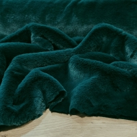 Kožušina poťahová - Smaragdovo zelená - cena za 10 centimetrov