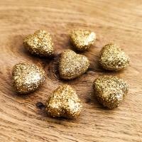 Dekoračná aplikácia - Srdiečko - zlaté