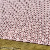 Bavlnená látka - Kvietočky červené - cena za 10 cm