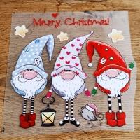 Nažehľovacia nálepka - Merry Christmas ! - 22 cm