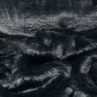 Kožušina poťahová - Čierno šedá - cena za 10 centimetrov