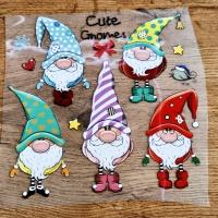 Nažehľovacia nálepka - Cute Gnomes - 22 cm
