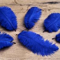 Pierko ozdobné Marabou - 15-20 cm - Kráľovsko modré