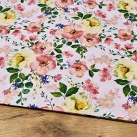 Bavlnená látka - Kvety Jablone - cena za 10 cm