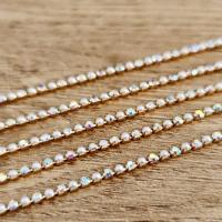 Štrasová borta perličková - Crystal AB - 2 mm - cena za 10 cm