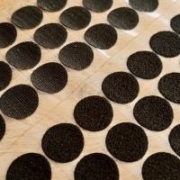 Suchý zips krúžok 30 mm - čierny