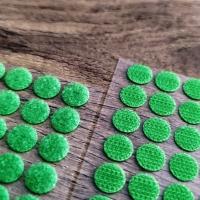 Suchý zips krúžok 10 mm - zelený