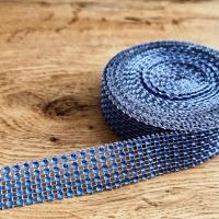 Kamienková stuha - Kráľovská modrá - šírka 2 cm - cena za 10 cm