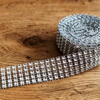 Kamienková stuha - Strieborná - šírka 2 cm - cena za 10 cm