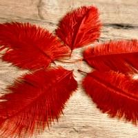 Pierko ozdobné Marabou - 15-20 cm - Červené