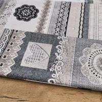 Bavlna režná - Krajka patchwork - cena za 10 cm