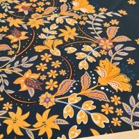 Kostýmovka - Kvety na tmavomodrom - cena za 10 cm