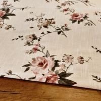 Bavlna režná - Kvety III - cena za 10 cm