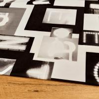 Dekoračná látka - Words - cena za 10 cm
