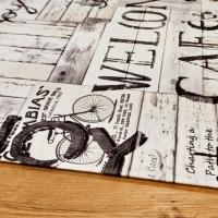 Dekoračná látka - Welcome Cafe - cena za 10 cm
