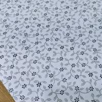Bavlnená látka - Kvietočky modré - cena za 10 centimetrov