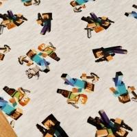 Teplákovina - Minecraft - cena za 10 centimetrov