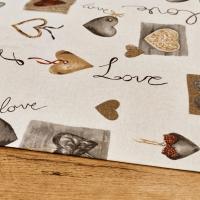 Bavlna režná - Love - cena za 10 centimetrov