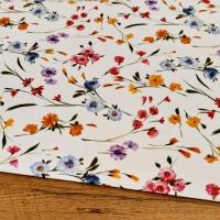 Bavlna režná - Lúčne kvety - cena za 10 centimetrov