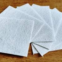 Filc 1 mm - 10 x 12,5 cm - biely