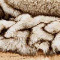 Kožušina umelá - krémovo - hnedý melír - cena za 10 cm