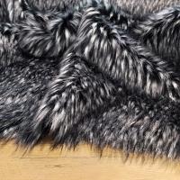 Kožušina umelá - melírovaná čiernošedá 1600 mm - cena za 10 cm