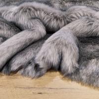 Kožušina umelá - Stell gray - cena za 10 cm