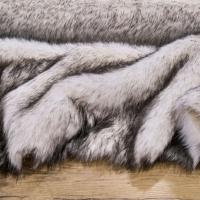 Kožušina umelá bielo - hnedý melír - cena za 10 cm