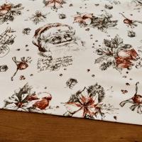 Bavlnená režná - Mikuláš s textom - cena za 10 cm