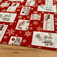 Bavlnená režná - Christmas Gift - cena za 10 cm