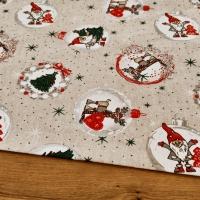 Bavlnená režná - Vianočné Gule - cena za 10 cm