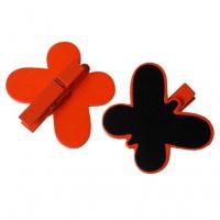 Ozdobný motýlik so štipčekom a plochou na písanie